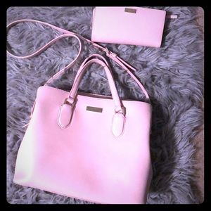 Kate Spade blush pink Laurel purse and wallet